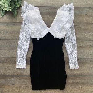 Vintage Z. Cavaricci Long Sleeve Lace Dress